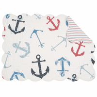 Anchored at Sea Scalloped Placemats - Set of 6