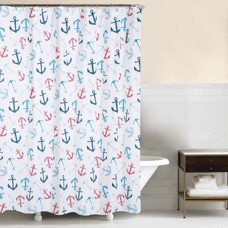 Anchored at Sea Shower Curtain