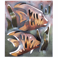 Angelfish Duo Metal Wall Art
