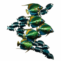 Angelfish School with Tangs Vertical Wall Art