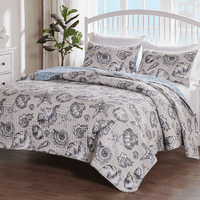 Antilles Shells Linen Bed Set - Full/Queen
