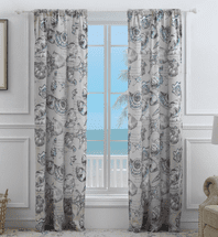 Antilles Shells Linen Drapes