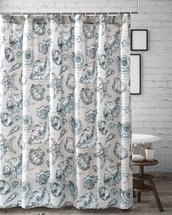 Antilles Shells Linen Shower Curtain