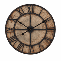 Antiqued Map Wall Clock