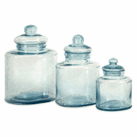 Aphrodite Glass Canisters - Set of 3
