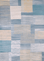 Applique Blue Rug Collection