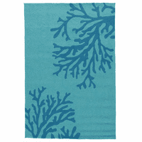 Aqua Beach Coral Indoor/Outdoor Rug - 9 x 12