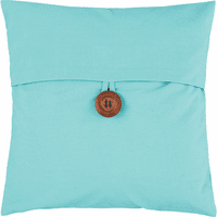 Aqua Button Feather Down Pillow
