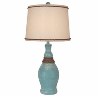 Aqua Genie Table Lamp with Rope Accent