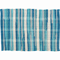 Aqua Harbor Plaid Table Linens