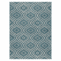 Aqua Ikat Indoor/Outdoor Rug Collection