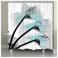 Aqua Oceanic Orchid Shower Curtain