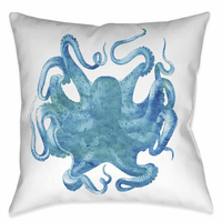 Aqua of the Deep 20 x 20 Outdoor Pillow