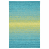 Aqua Ombre Indoor/Outdoor Rug Collection