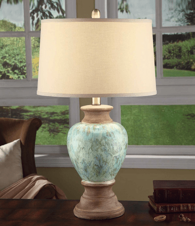 Aqua Pearl Table Lamp - CLEARANCE