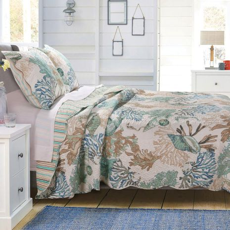Aqua Reef Quilt Set - King