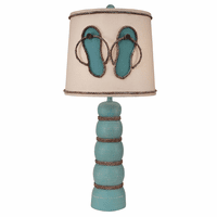 Aqua Rope Table Lamp with Flip Flop Shade