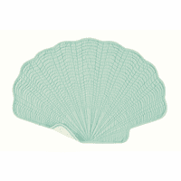 Aqua Shell Reversible Placemats - Set of 12