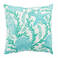 Aqua Shells Indoor/Outdoor Pillow