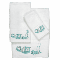 Aqua Shells & Seagrass Towel Collection