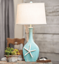 Aqua Starfish Table Lamp