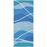 Aqua Waves Indoor/Outdoor Rug - 2 x 5
