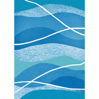 Aqua Waves Indoor/Outdoor Rug - 3 x 5