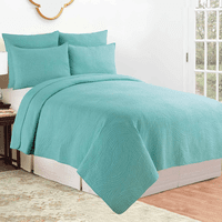 Aqua Waves Quilt Set - Full/Queen