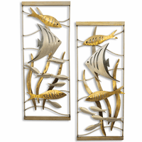 Aquarium Scene Vertical Metal Wall Art - Set of 2