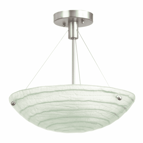 Aqueous 3 Light Semi Flush Fixture