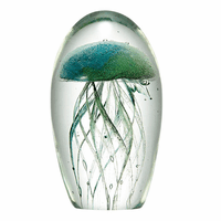 Art Glass Jellyfish - Teal
