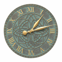 Artisan Flower Indoor/Outdoor Wall Clock - Bronze Verdigris