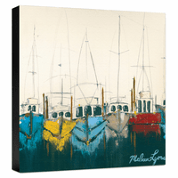 At the Dock Gallery Wrapped Canvas