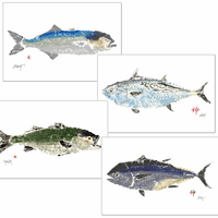 Atlantic Fish Placemats - Set of 4