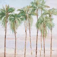 August Palms II Canvas Art