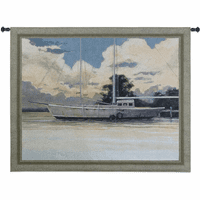 Awaiting Sail Wall Tapestry