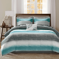 Azul Waves 9 Piece Bed Set - Full