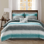 Azul Waves 9 Piece Bed Set - King