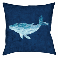 Azul Waves Whale Pillow