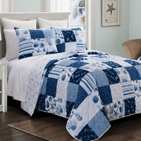 Azure Bay Quilt Set - Queen