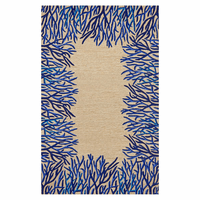Azure Waves Coral Rug Collection