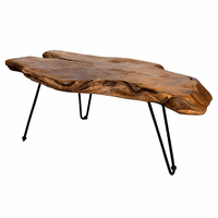 Badang Carving Natural Teak Coffee Table