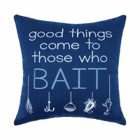 Bait Embroidered Pillow