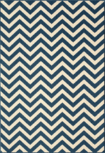 Baja Chevron Navy Rug Collection