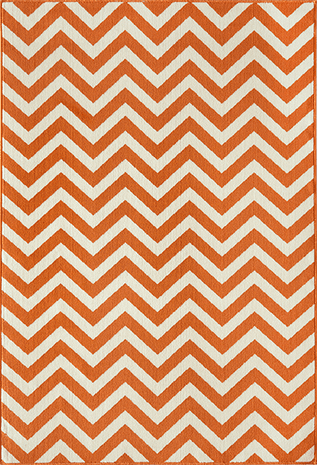 Baja Chevron Orange Rug - 8 x 11