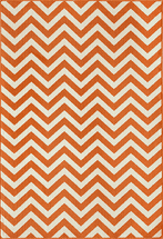 Baja Chevron Orange Rug Collection