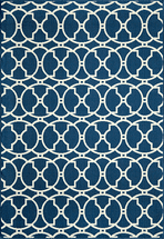 Baja Circlet Navy Rug Collection