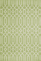 Baja Diamond Geo Green Rug Collection