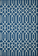 Baja Diamond Geo Navy Rug Collection