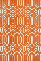 Baja Diamond Geo Orange Rug Collection